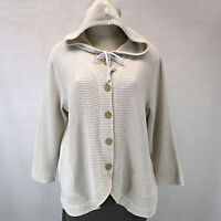 Focus Casual Life Plus Size Sweater Hooded Waffle Oatmeal Jacket Cotton 1x