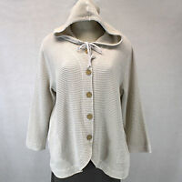 Focus Casual Life Plus Size Sweater Hooded Top Waffle Oatmeal Jacket 2x
