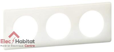 Plaque triple yesterday Céliane blanc entraxe 71mm Legrand 66633 Nouveauté 2015