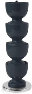 pack of 4 Zeal by CKS Melamine Stack and Store Egg Cups dark grey