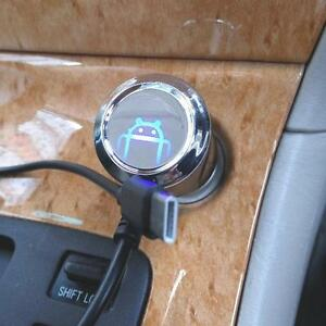 12V DC Type C USB Car Charger With Slingshot Wire For Motorola Moto Z Play