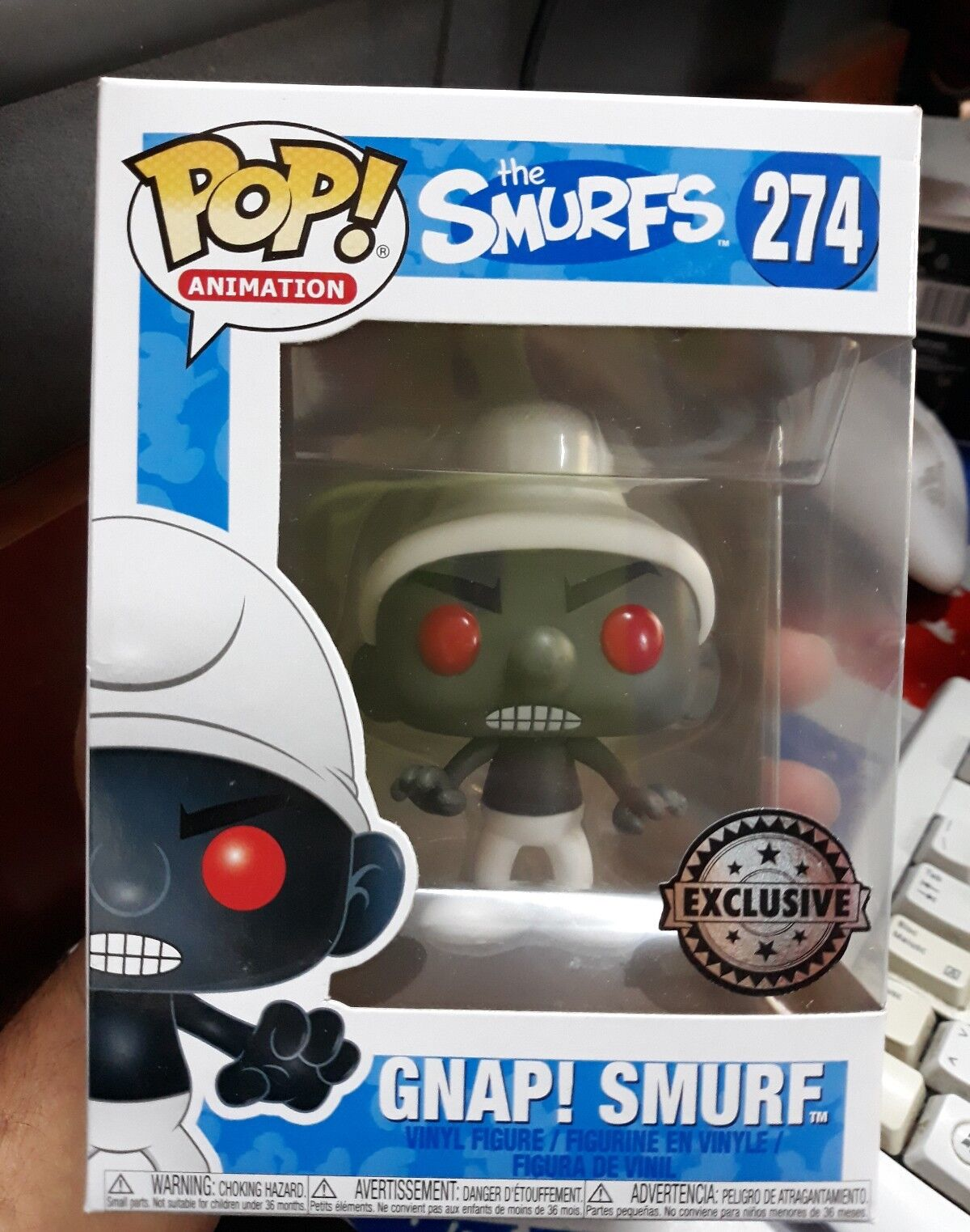 The smurfs 274 pop funko animation gnap puffo exclusive version