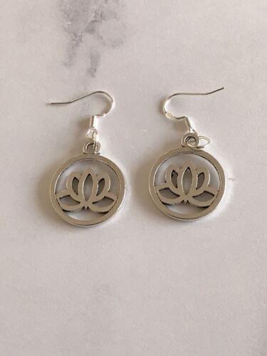 Lotus Flower Earrings Buddha Buddhist Yoga Meditation Boho