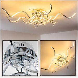Das Bild Wird Geladen Design Deckenleuchte LED Wohn Zimmer Leuchten Chrom Flur