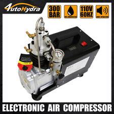 4utohydria 4500psi High Pressure Manual Stop 30mpa Protable Air Compressor