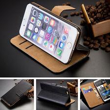 Für Apple iPhone 5 / 5S / SE Handy Tasche Cover Case Schutz Echt Hülle Klapp