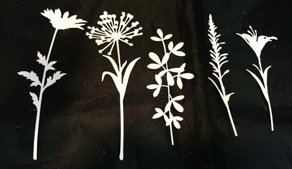 Tim Holtz Sizzix Bundle of 2 Thinlits Die Sets Wildflower Stems #1 /& #2 ***NEW**