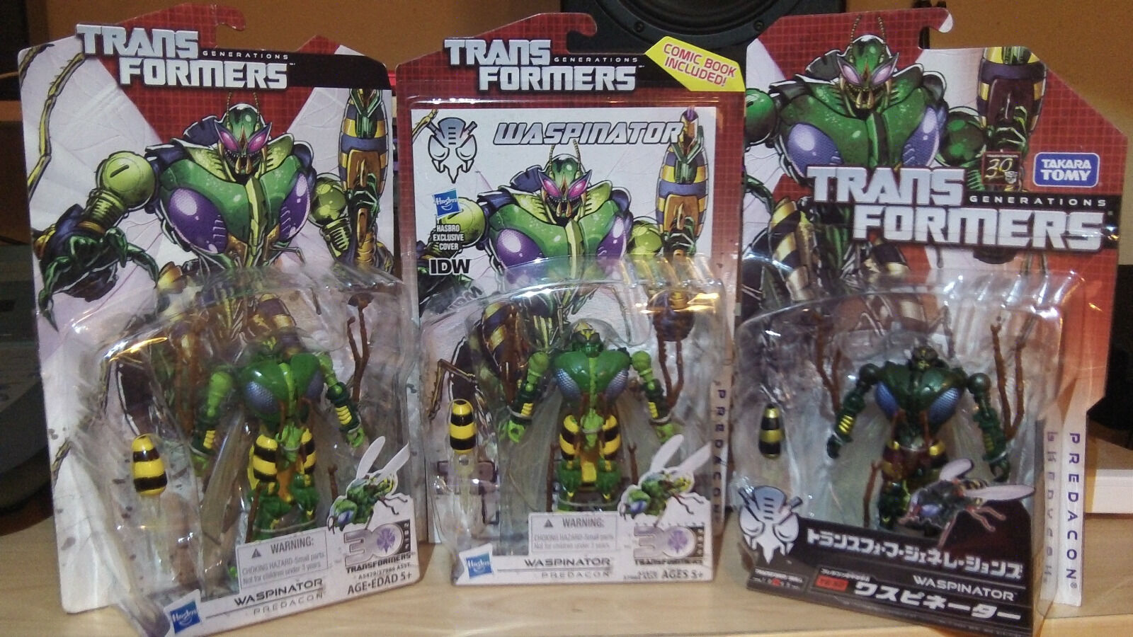 Transformers Generations Deluxe Waspinator tous trois Version Lot   magasin d'usine