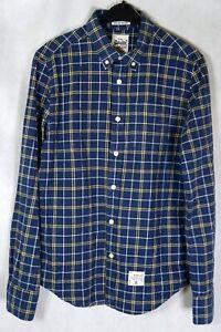 la-seco-Oxford-de-Superdry-de-manga-larga-cuadros-a-Cuadros-Talla-De-Camisa-Azul-M-Mediano