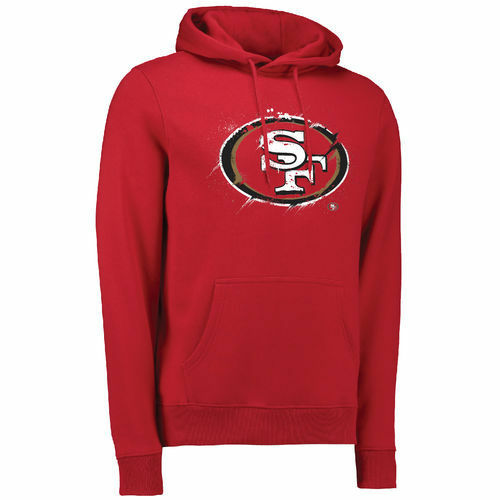 San Francisco 49ers 49ers 49ers Splatter Hoodie   | Mangelware  | Zu einem niedrigeren Preis  83cf49