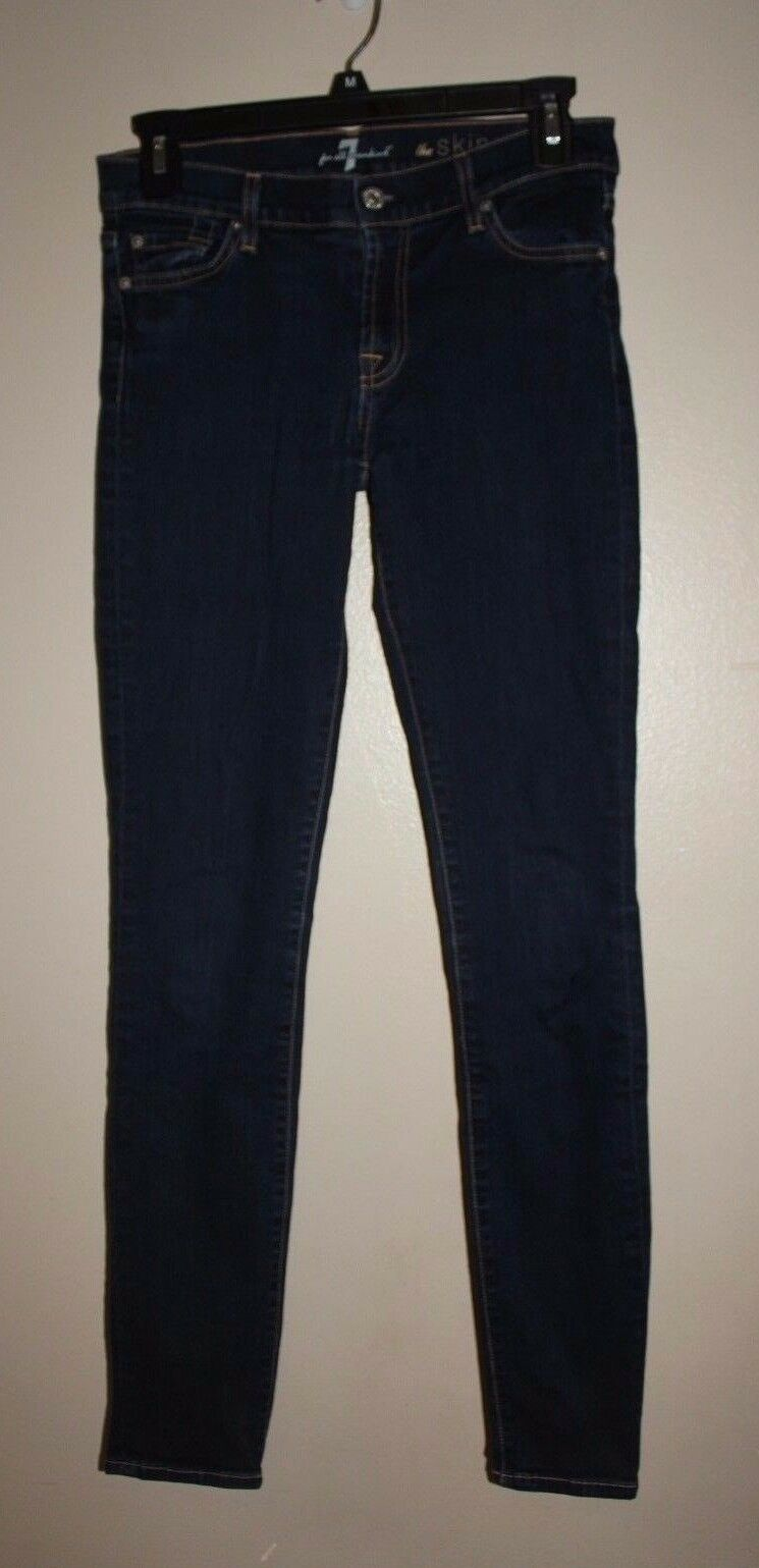 7 FOR ALL MANKIND SKINNY MID-RISE STRETCH JEANS SIZE 27