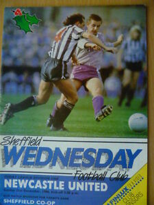 198687 League Programme Division 1 SHEFFIELD WEDNESDAY v NEWCASTLE UNITED - ilford, Essex, United Kingdom - 198687 League Programme Division 1 SHEFFIELD WEDNESDAY v NEWCASTLE UNITED - ilford, Essex, United Kingdom