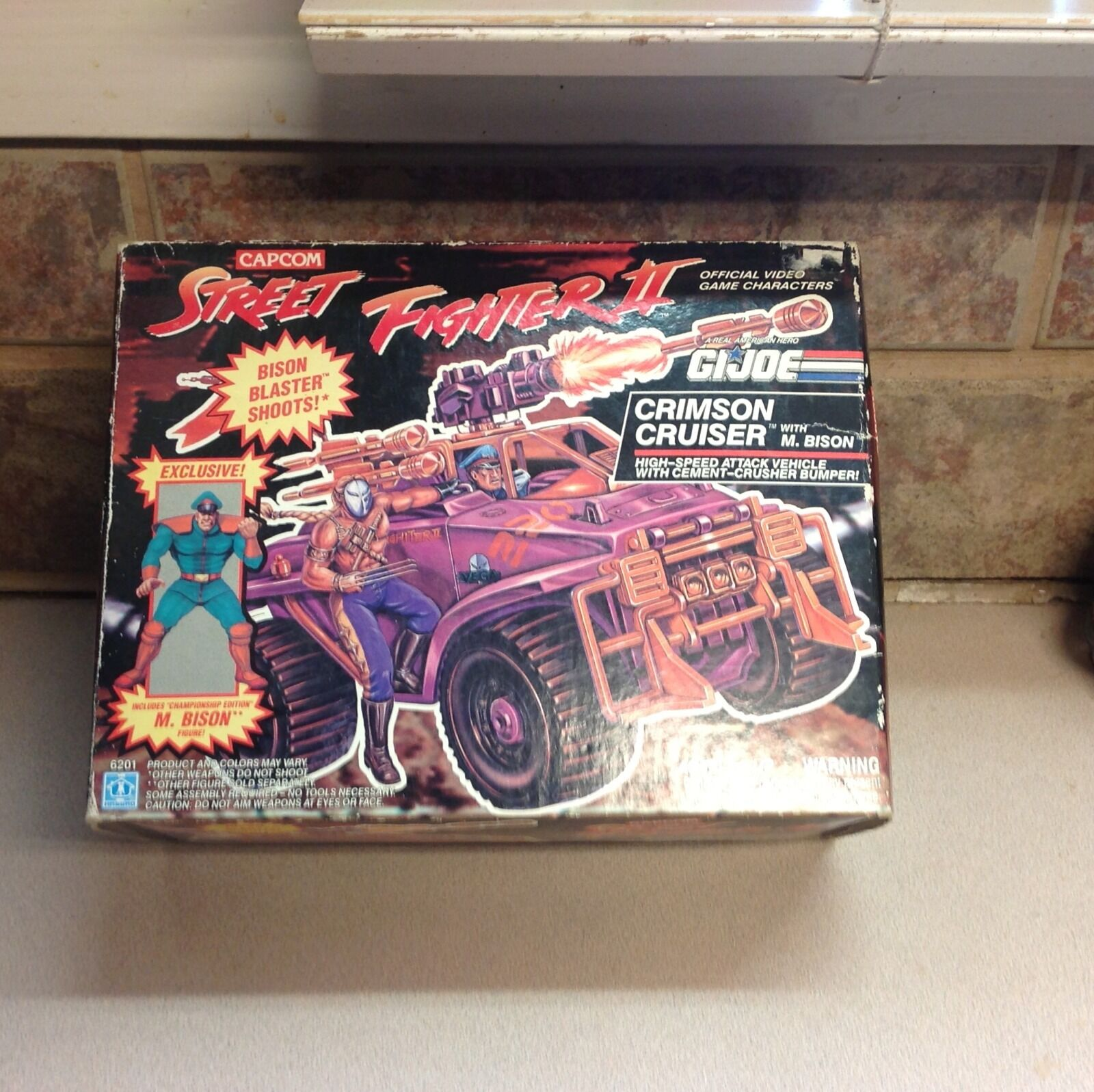 G I Joe Street Fighter 2 new in box  CRimson cruiser W  M. Bison