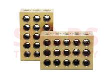 SHARS 1 PAIR TIN COATED 123 BLOCKS 1-2-3 ULTRA PRECISION .0002 HARDENED 23 HOLE