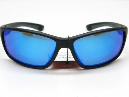 Strike King SK Plus Black Frame Hudson Blue Mirror Polarized Lens Sunglasses