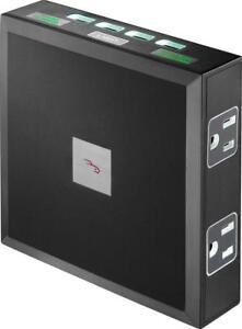 Rocketfish- 6-Outlet/4-USB Wall Tap Surge Protector - Black