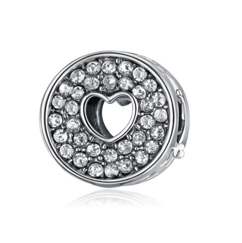 NEW European Silver plated Charm Bead Fit sterling 925 Necklace Bracelet #A046