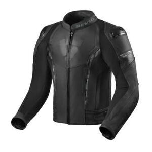 Revit-Glide-Motorcycle-Motorbike-Leather-Jacket-Black