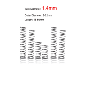 Select Size Wire diameter 2.5mm Outer diameter 13.7 to 18.5mm  Torsion Spring