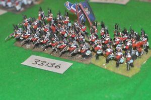 25 mm napoléoniens / britanniques - Ligne Régt 36 figurines Cav (33136)
