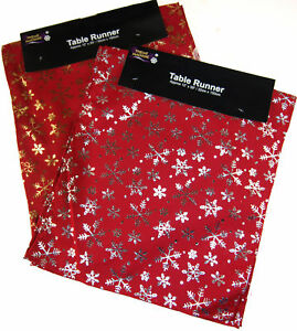 Festive-Red-Snowflake-Christmas-Table-Runner-150-cm-x-33-cm