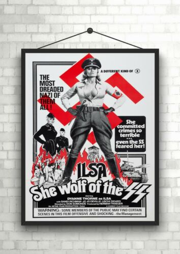 Ilsa She wolf Of The SS Classic Vintage Large Movie Poster Art Print A0 A1 A2 A3