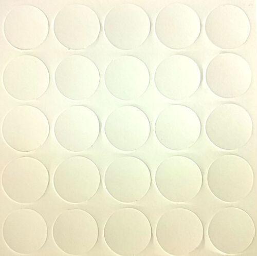 Blanc x25 Auto Adhésif Bâton meubles Autocollant Vis Trou Cover Caps 14 mm