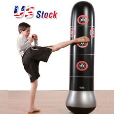 Details about  /Boxing Inflatable Punching Bag Stand MMA Kick Martial Training With Air Pump USA