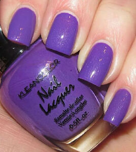 Image Is Loading Kleancolor NEON PURPLE Nail Polish Lacquer Full Sz