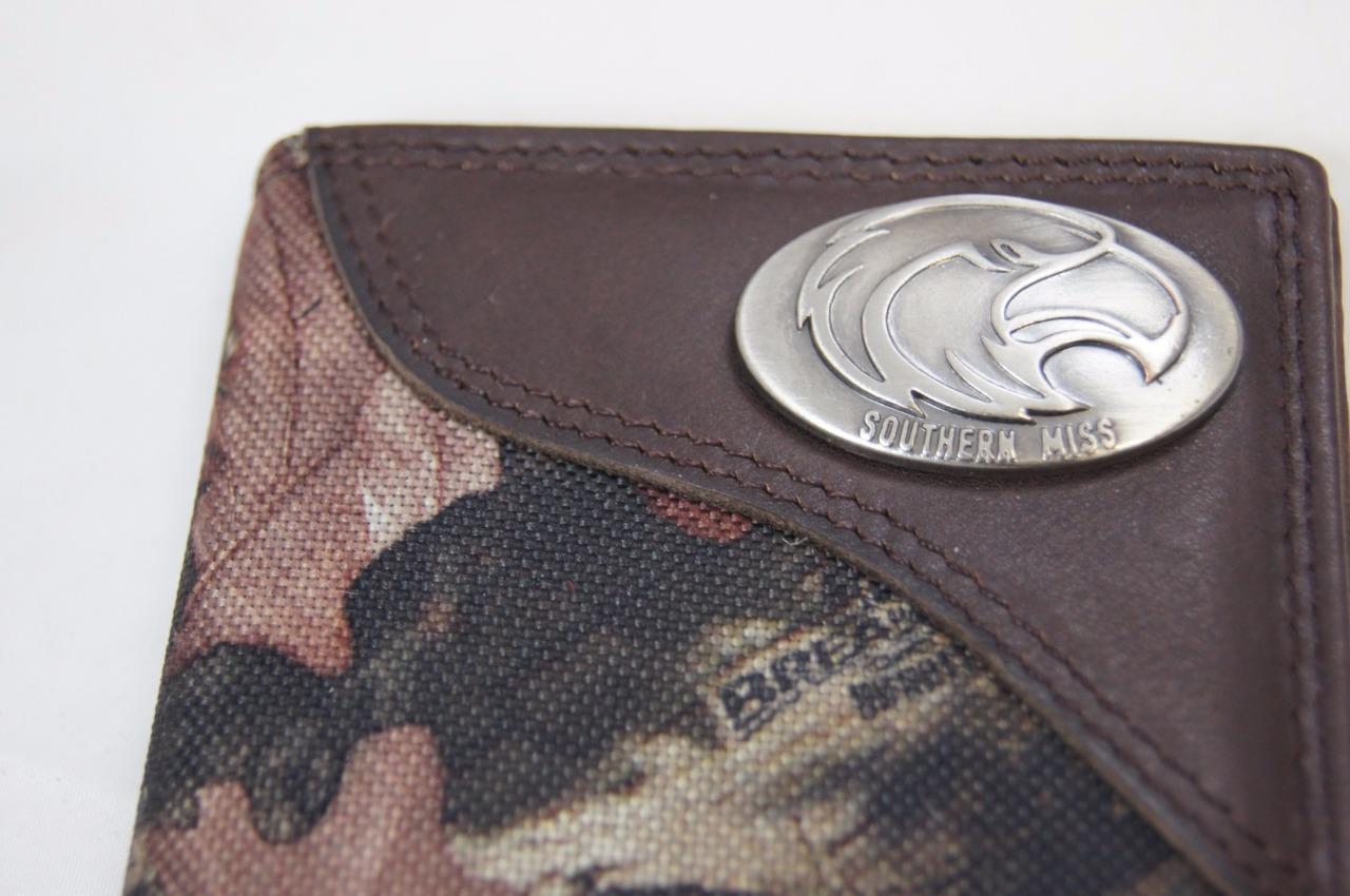 ZEP-PRO Southern Miss Golden Eagles Mississippi Mossy Oak Camo Wallet BURLAP BAG