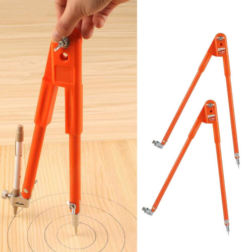 2pcs Precision Compass with Pencil Making Circles Tool for Carpenter//Student