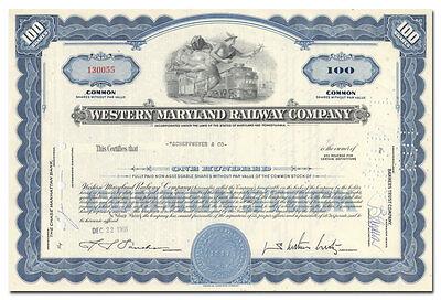 1930s-50s Allegheny & Western Railway Co. Stock