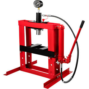 10-Ton-Hydraulic-Shop-Press-Workshop-Jack-Garage-Bending-Bearing-Pressure-Gauge