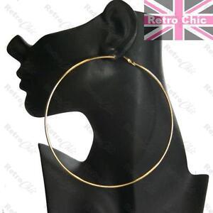Image Is Loading Giant 4 75 034 Hoop Earrings Thin