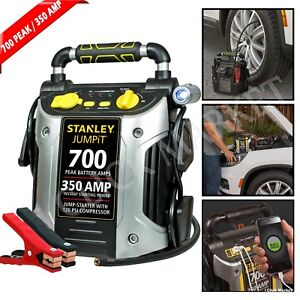 Details About Battery Jump Starter Portable Air Compressor Peak Power Booster Pack Car Charger