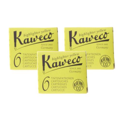 18 Patronen Kaweco Tintenpatronen Neon-Gelb Highlighter Ink