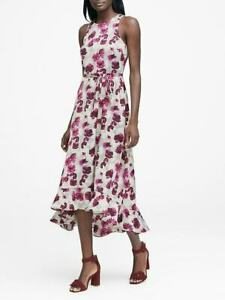 Banana Republic Floral Fit And Flare Maxi Dress Size 10