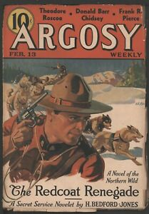 Argosy 1937 February 13. Seven Worlds to Conquer  pt. 4 by Edgar Rice Burroughs