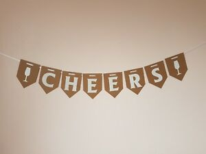 034-CHEERS-034-Bunting-Party-Banner-Adult-Birthday-Decoration-Banner-Wine-time