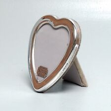 Hallmarked English Heart Shaped Sterling Silver Picture Frame - Photo Easel SL