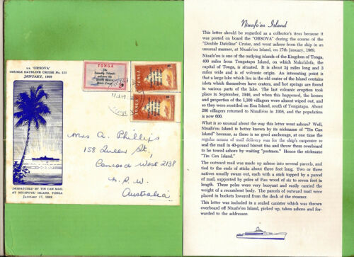 #D281. 1969 SOUVENIR ENVELOPE, S.S. ORSOVA, TIN CAN MAIL