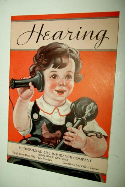 Vintage Hearing By Metropolitan Life Insurance Brochure