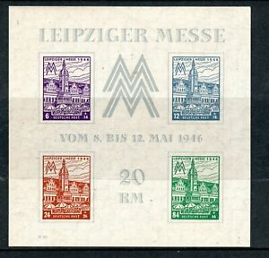 Germany - Allied Occupation Russian Zone 1946 Leipzig Fair minature sheet MNH