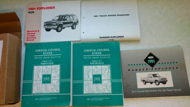 1991 Ford Explorer  Aerostar  Ranger Shop Manuals Wiring