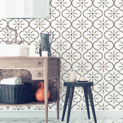 LUCCA Wiederverwendbare Kunststoff-Schablone Fliese Marokkanische Geometrische