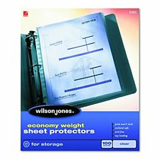 Economy Weight Top Loading Sheet Protectors Clear 100box W21421