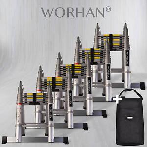 Worhan 174 Telescopic Foldable Ladder Multi Purpose