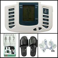 Digital Tens Pulse Acupuncture Therapy Stimulator Body Muscle Relax Massage Foot