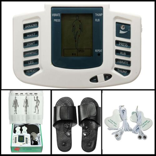 Health Tens Pulse Acupuncture Therapy Stimulator Muscle Relax Massage Foot Full