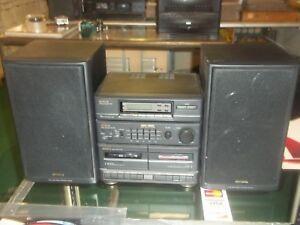 Image Is Loading Aiwa NSX 150M Bookshelf Stereo System DUEL Cassette